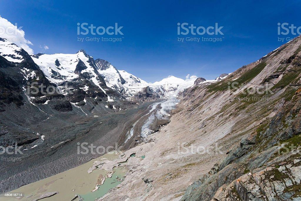 Pasterze, glacier in Austria. Grossglockner hochalpenstrasse stock photo