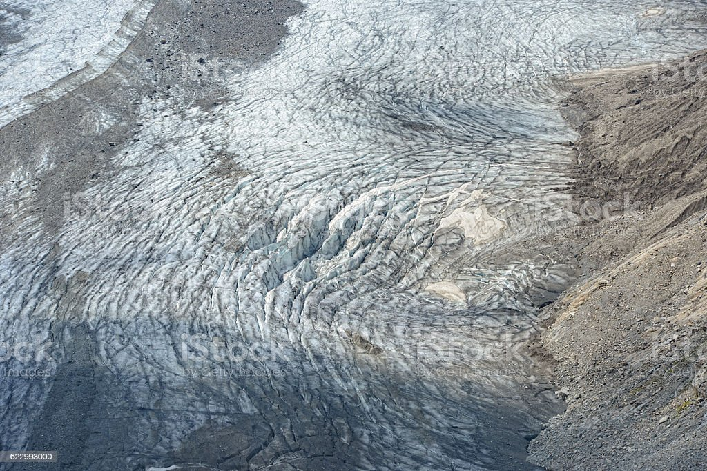 Pasterze glacier in european alps grossglocker mountain range. stock photo
