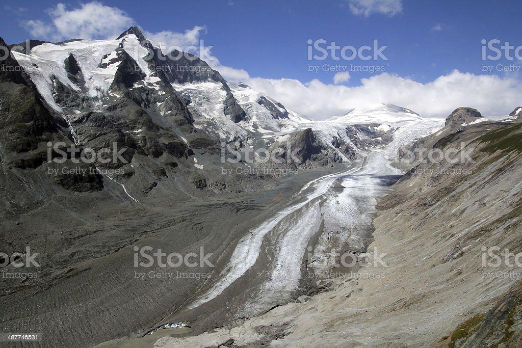pasterze glacier stock photo