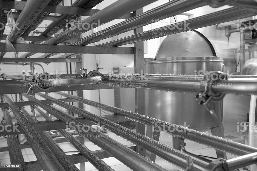 Pasteurization industry stock photo