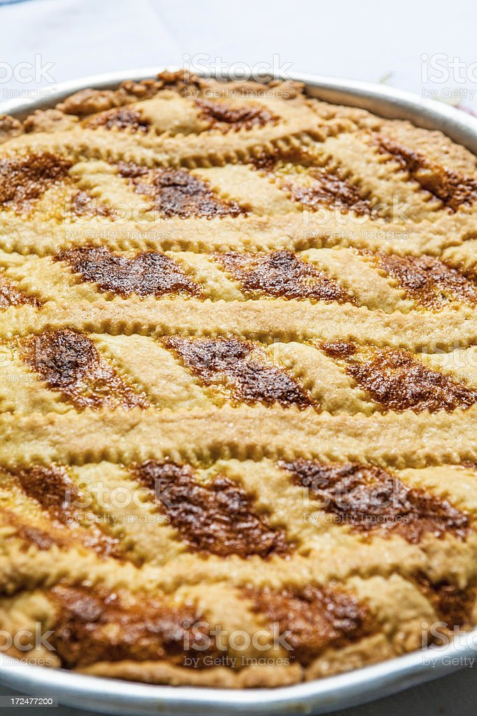 Pastiera, Italian Easter Cake, Close up royalty-free stock photo