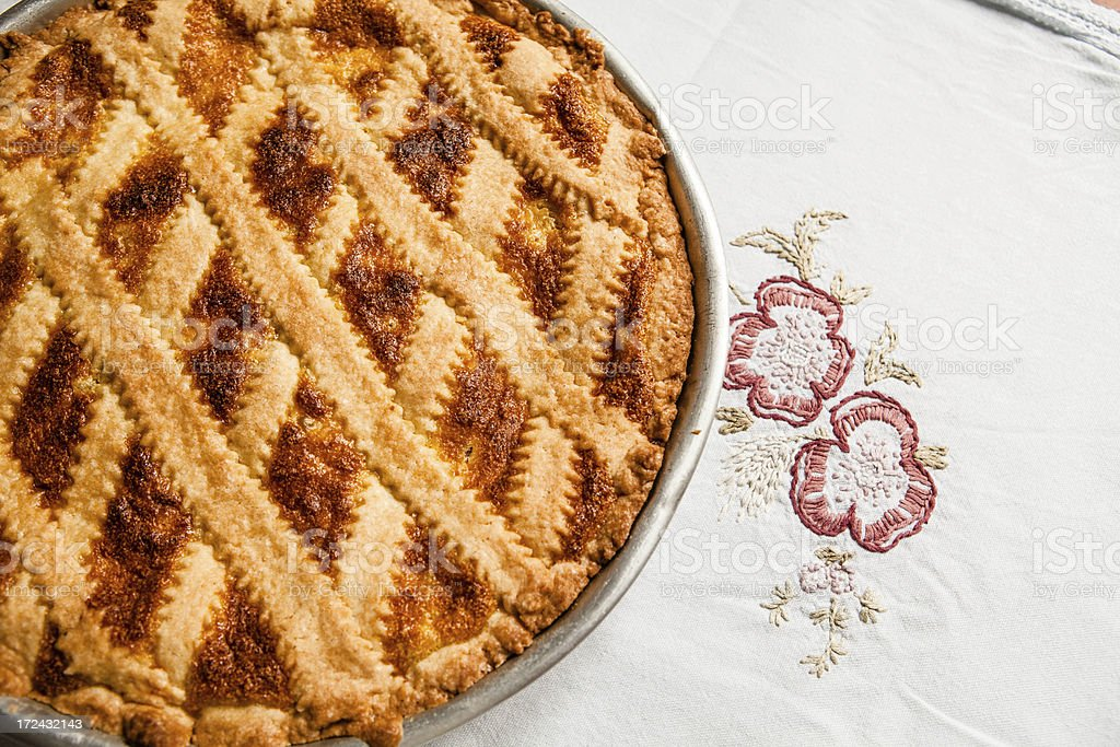 Pastiera, Italian Easter Cake from Naples. royalty-free stock photo