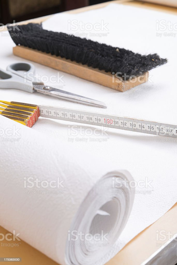 pasting table royalty-free stock photo