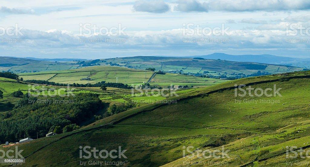 Pastoral Northern English Landscape stock photo