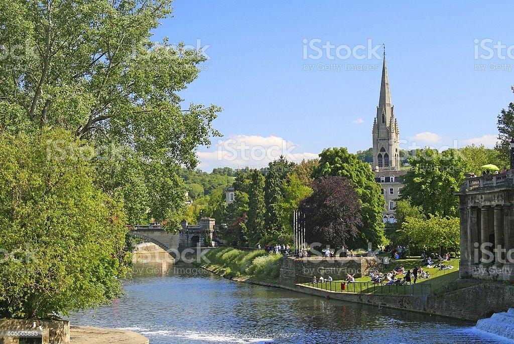 Pastoral scene in Salisbury, England stock photo