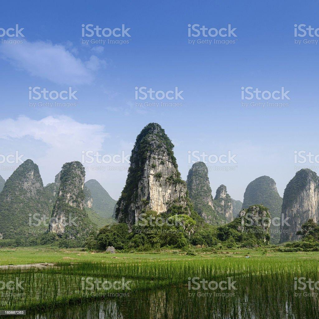 Pastoral scenery in Guilin stock photo