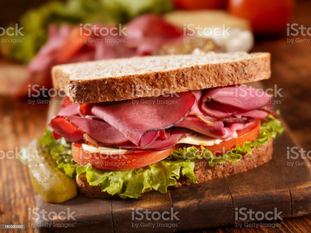 Pastrami Sandwich stock photo