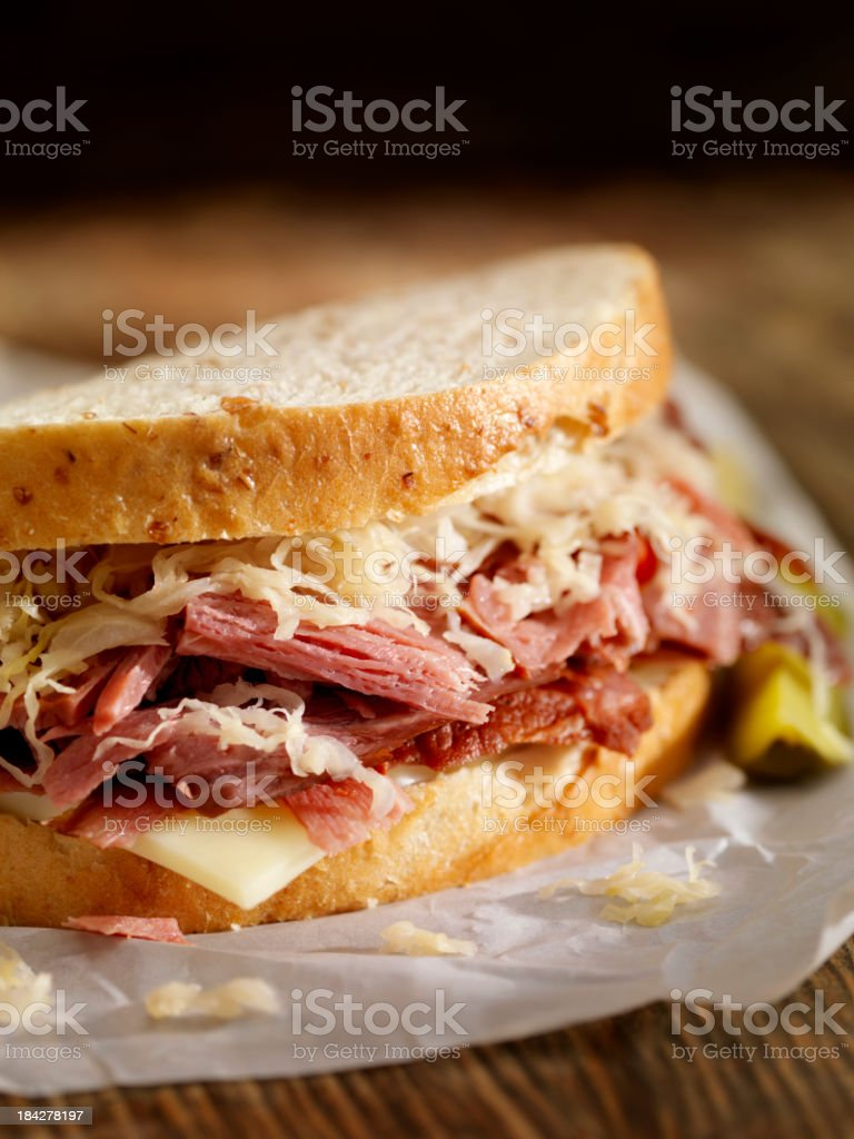 Pastrami Sandwich stock photo