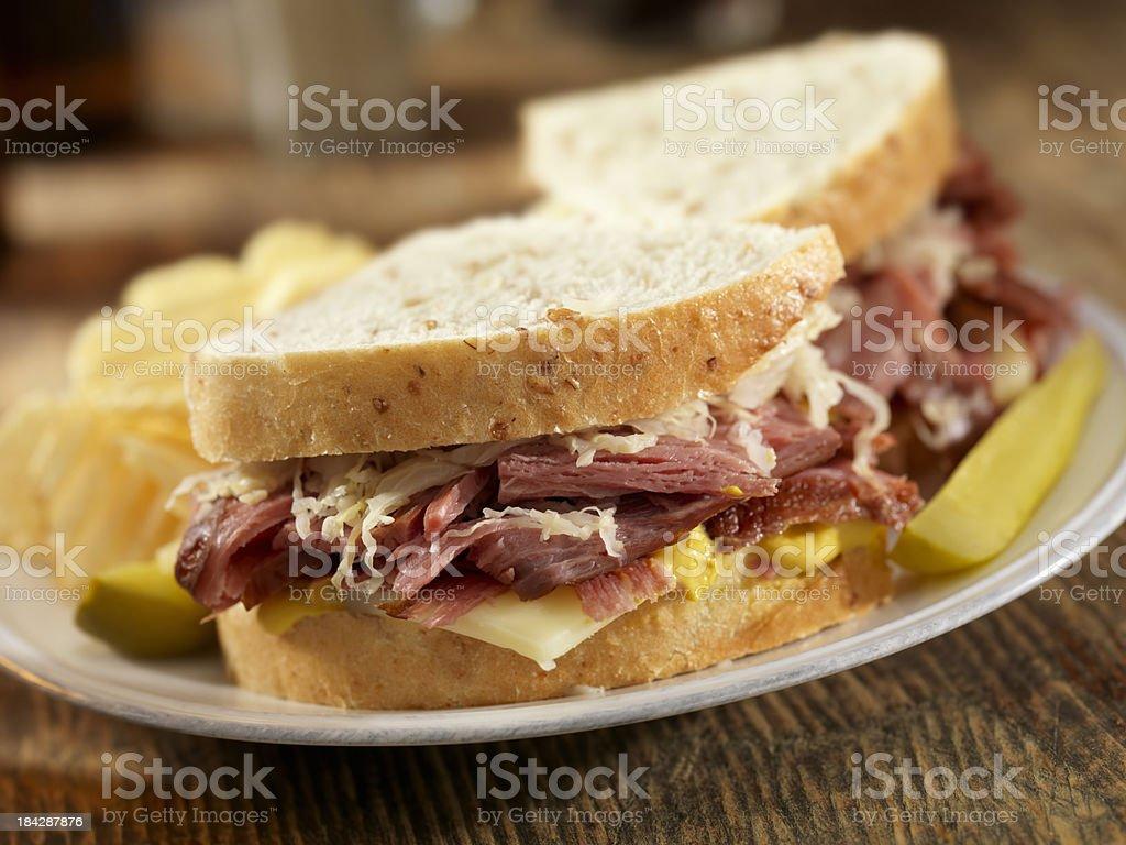 Pastrami Sandwich royalty-free stock photo