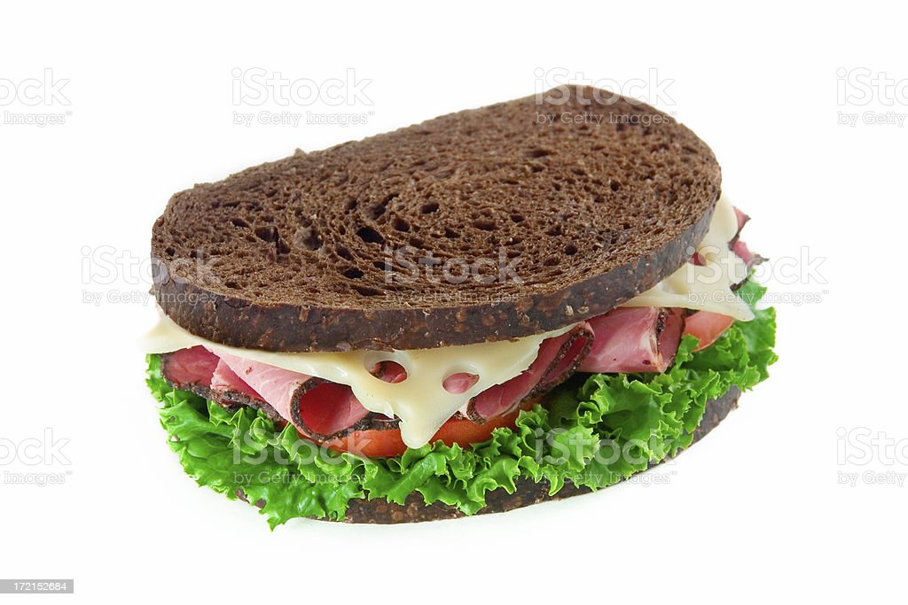 Pastrami & Swiss Sandwich royalty-free stock photo