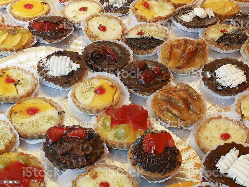 Pastry and bees stock photo