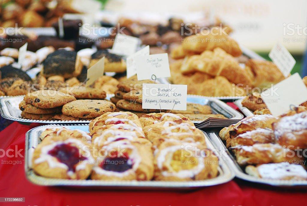 Pastry at Farmer's Market royalty-free stock photo