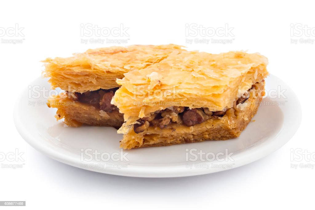 pastry cake baklava pieces stock photo