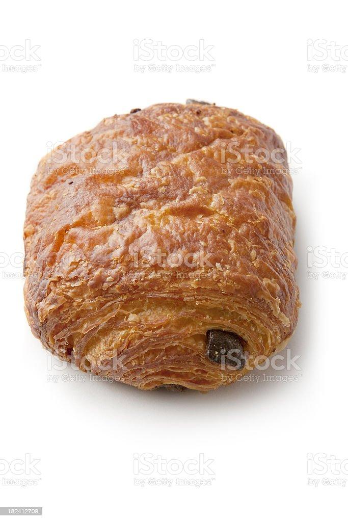 Pastry: Chocolate Croissant stock photo