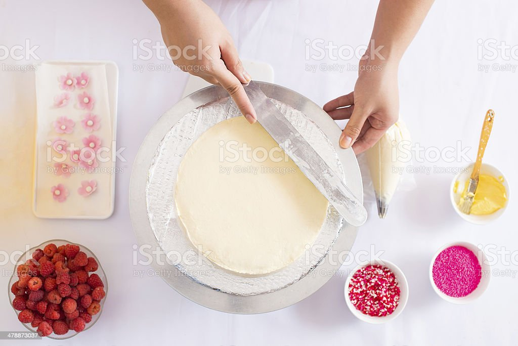 Pastry cook stock photo