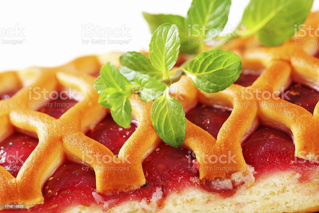 Pastry lattice pie royalty-free stock photo
