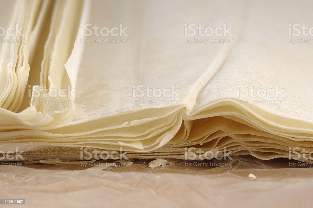 Pastry leaves stock photo