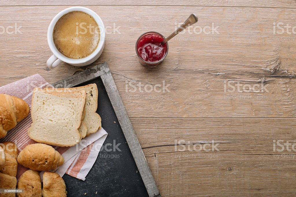 Pastry morning delights stock photo