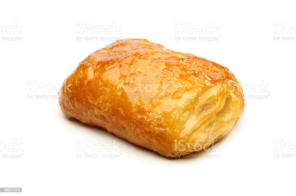 A pastry puff on a white background royalty-free stock photo
