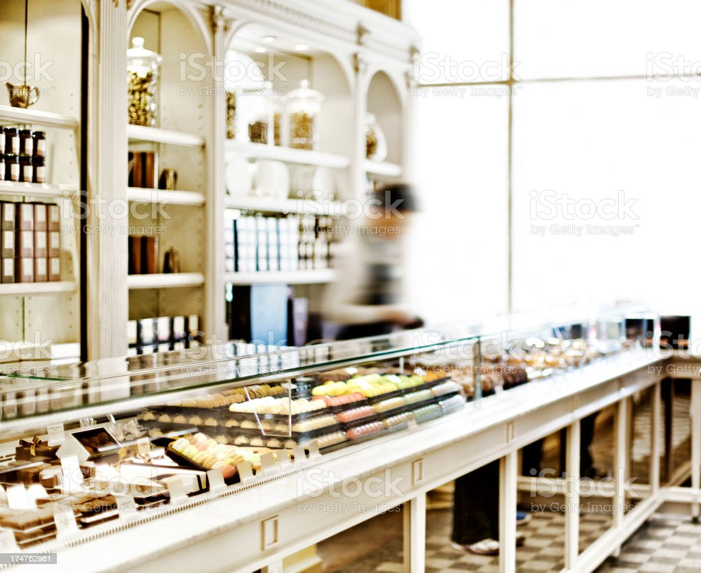 Pastry shop in Paris stock photo