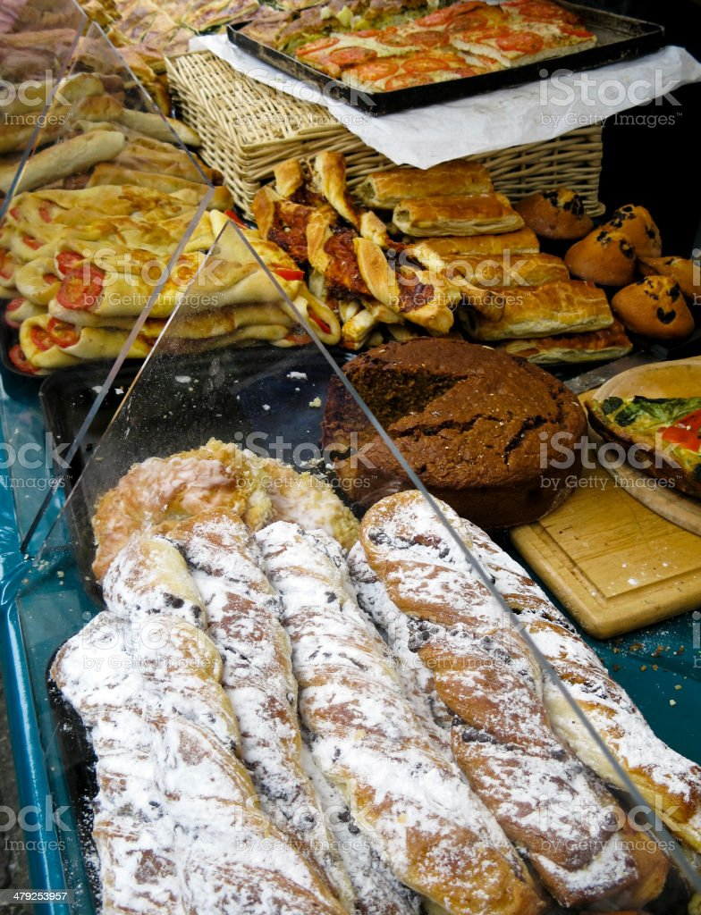 Pastry stall royalty-free stock photo