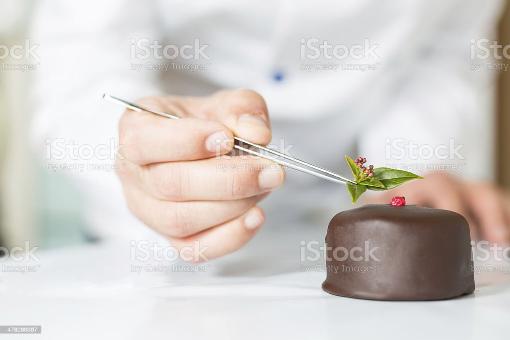 Pastry with a cake stock photo