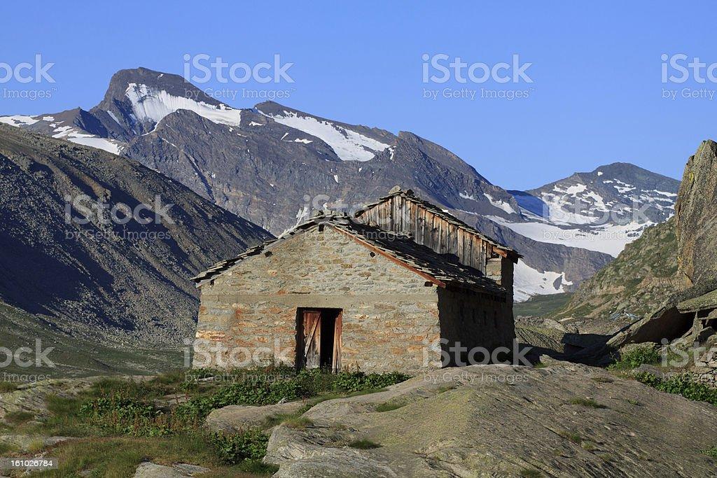 Pasture Teureun - Valsavaranche royalty-free stock photo