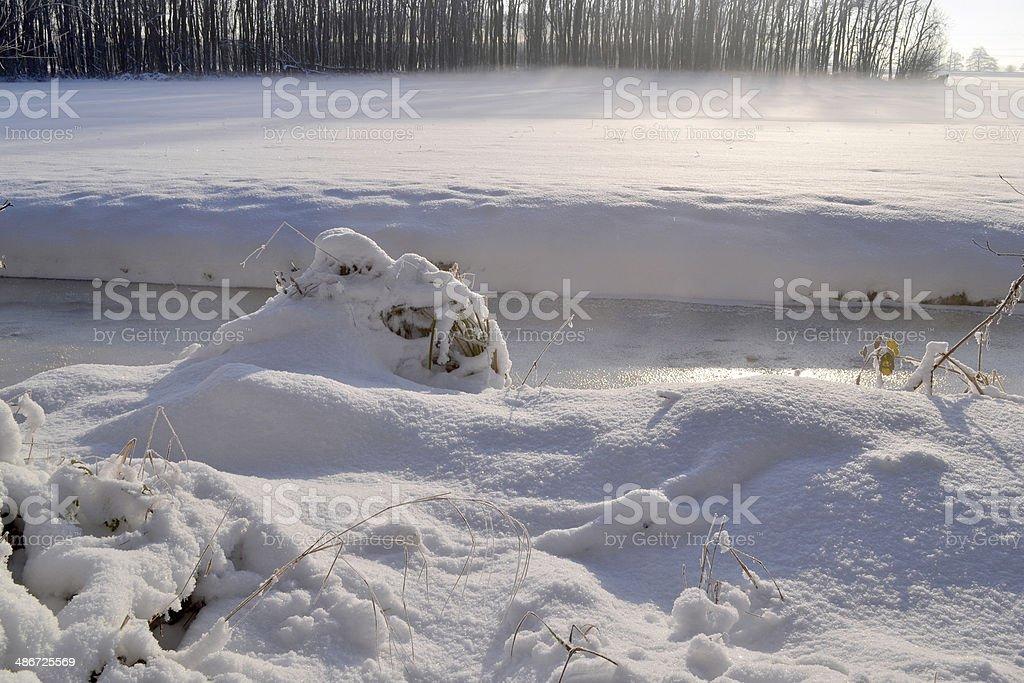 パスチュアに雪。 ロイヤリティフリーストックフォト
