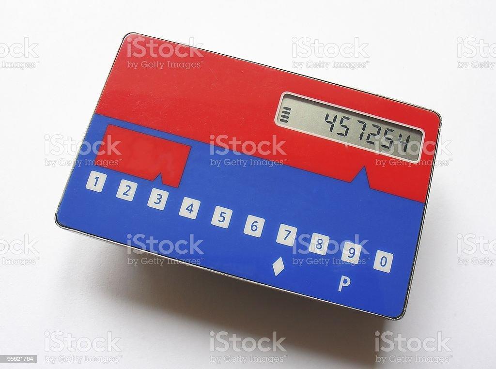 pasword generator card royalty-free stock photo