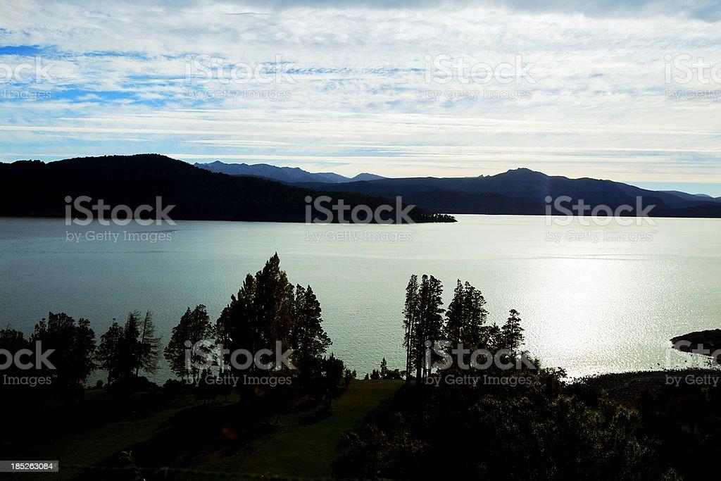 Patagonia Argentina Nahuel Huapi Lake stock photo