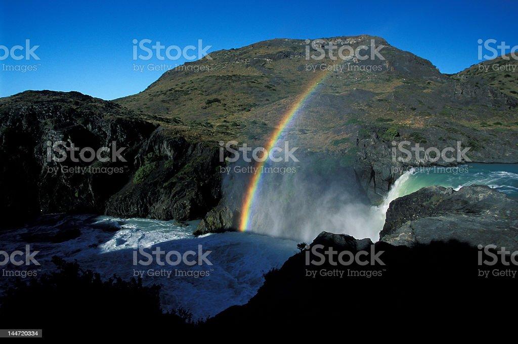 Patagonia Falls Rainbow royalty-free stock photo