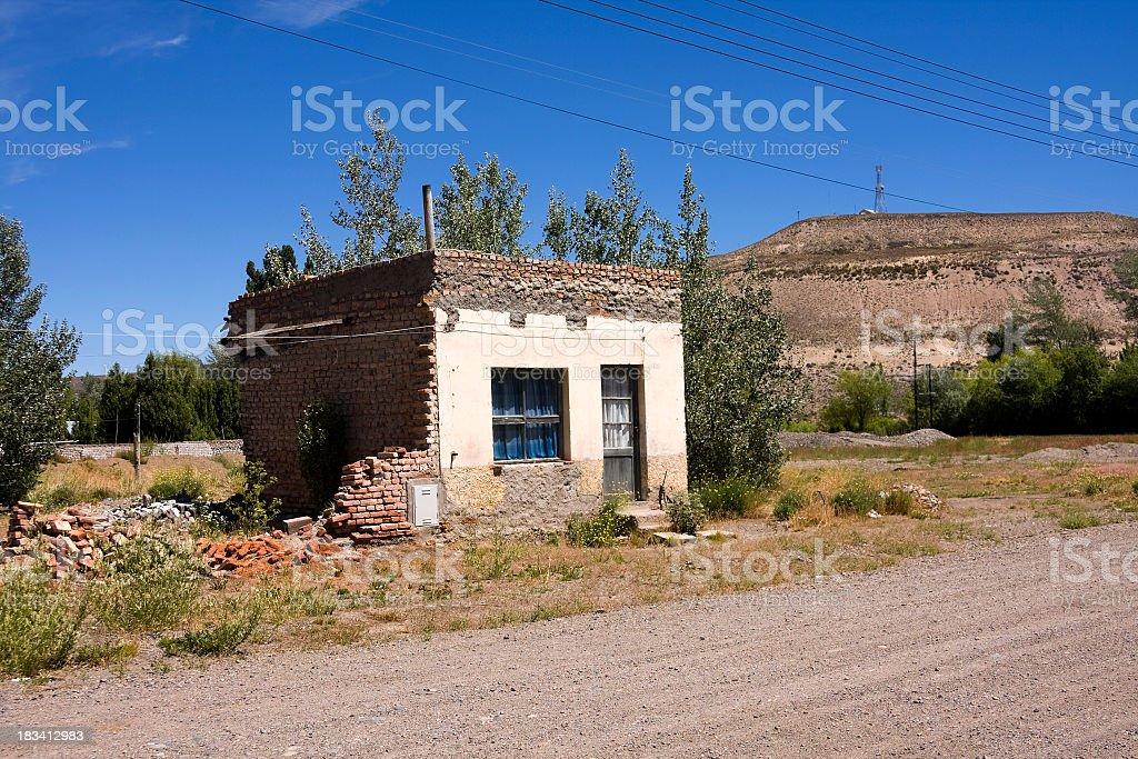 Patagonia humble home stock photo