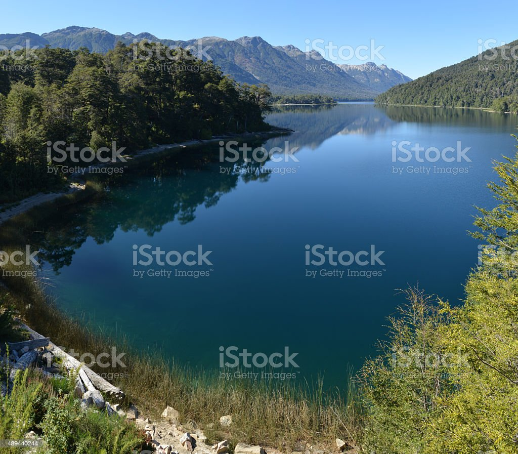Patagonia lake, Argentina stock photo
