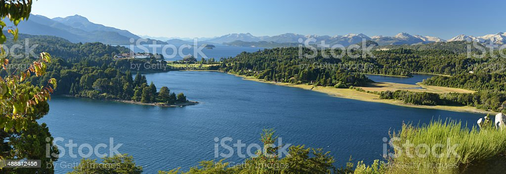 Patagonia lakes, Argentina stock photo