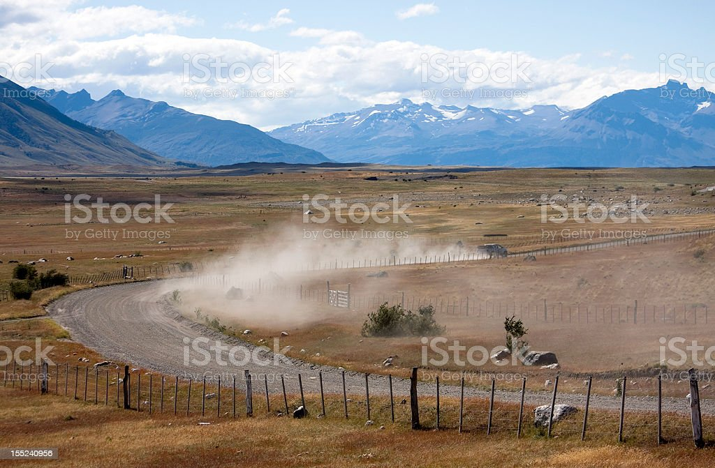 Patagonia road stock photo
