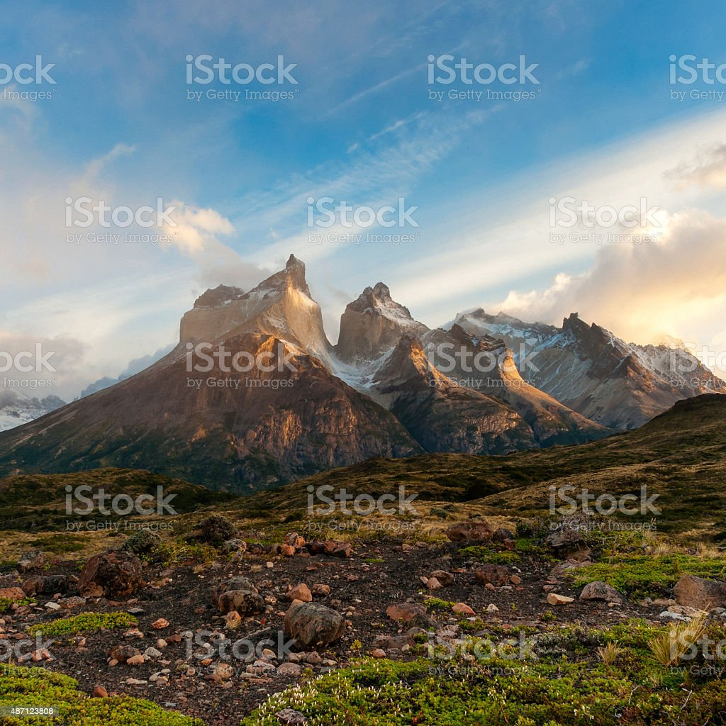 Patagonian Dawn stock photo