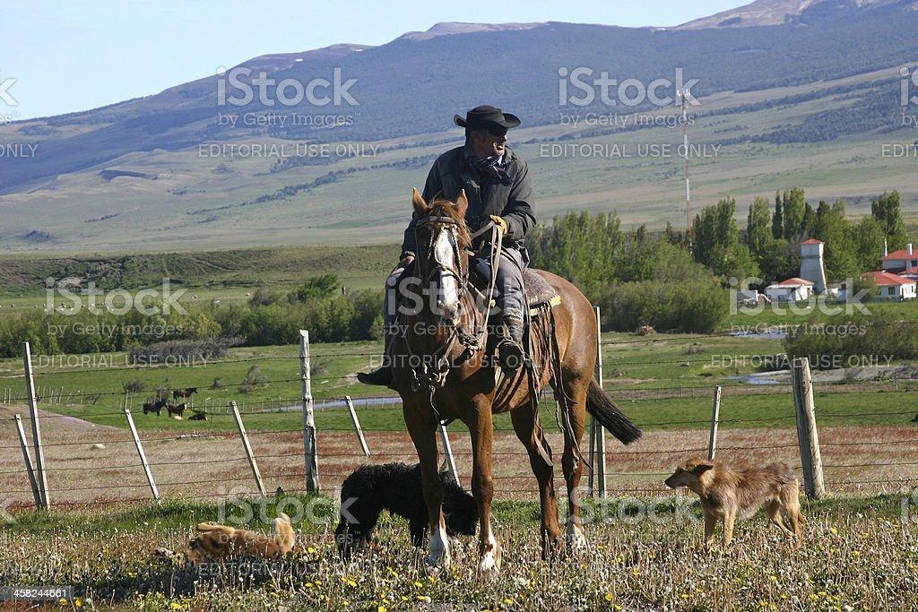 Patagonian Gaucho stock photo