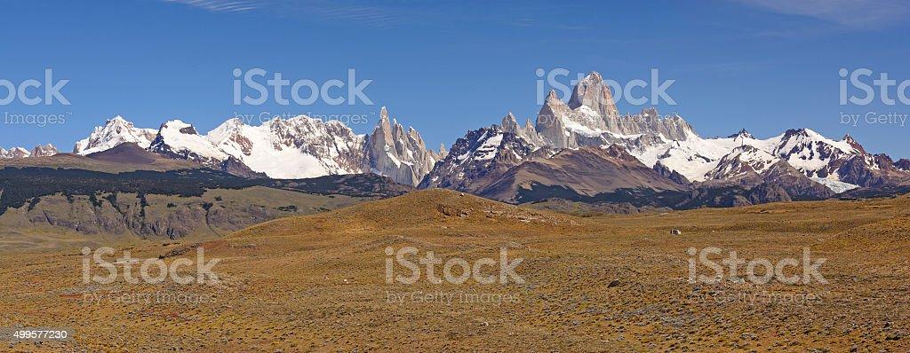 Patagonian Mountain Panorama stock photo