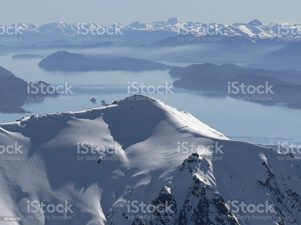 Patagonian Mountain Scene stock photo