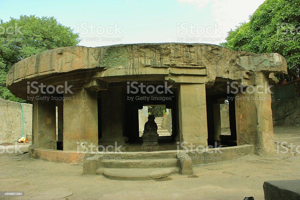 Pataleshwar cave Mahadev temple stock photo