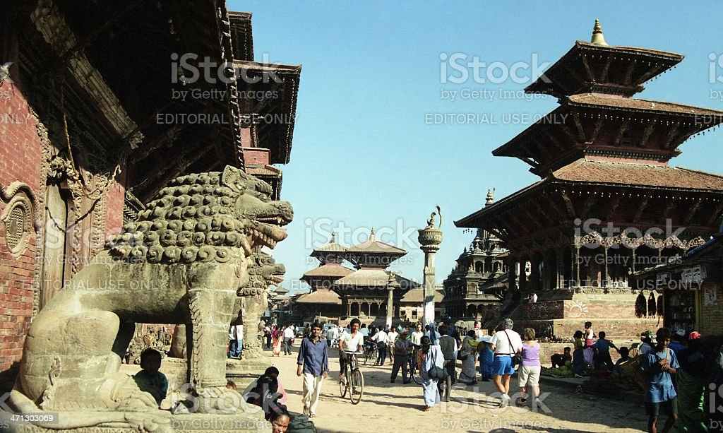 Patan Durbar Square, Kathmandu, Nepal royalty-free stock photo