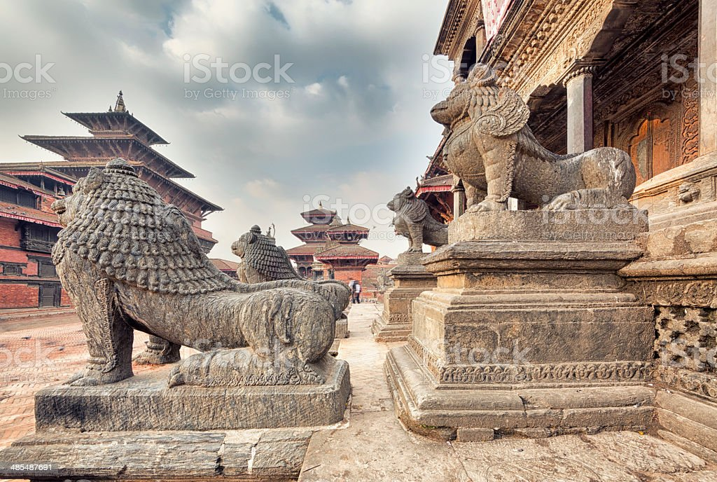 Patan Durbar Square, Kathmandu, Nepal royalty-free stock photo