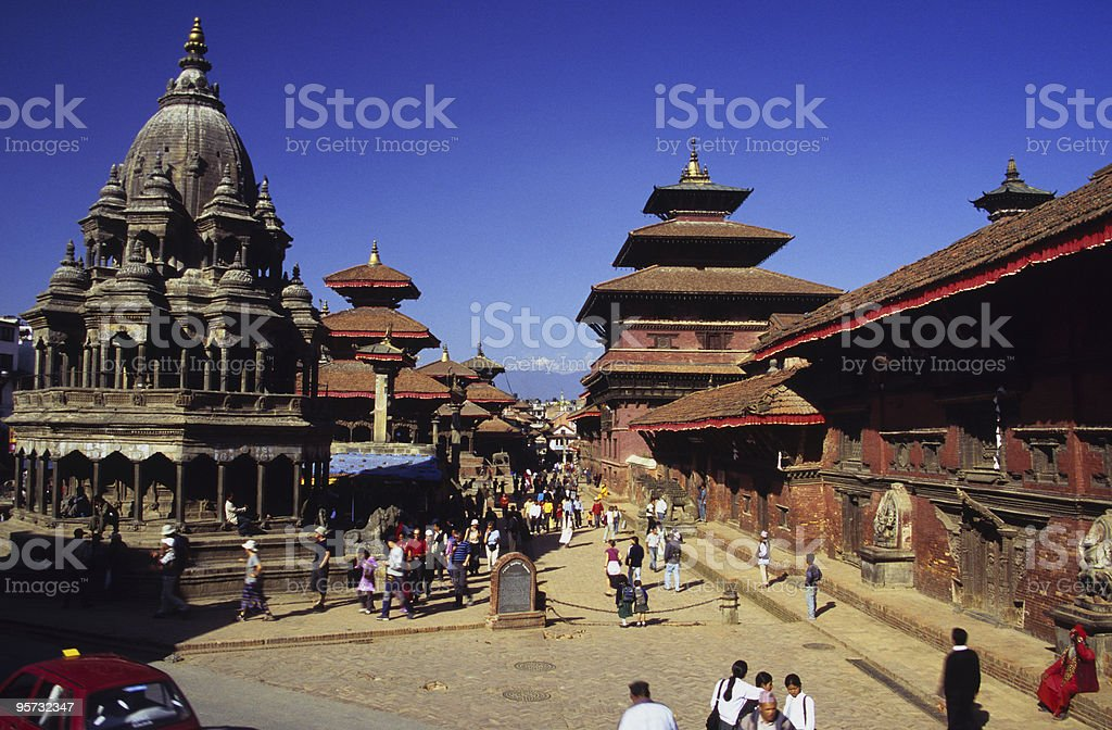 Patan Durbar Square, Kathmandu Valley, Nepal stock photo