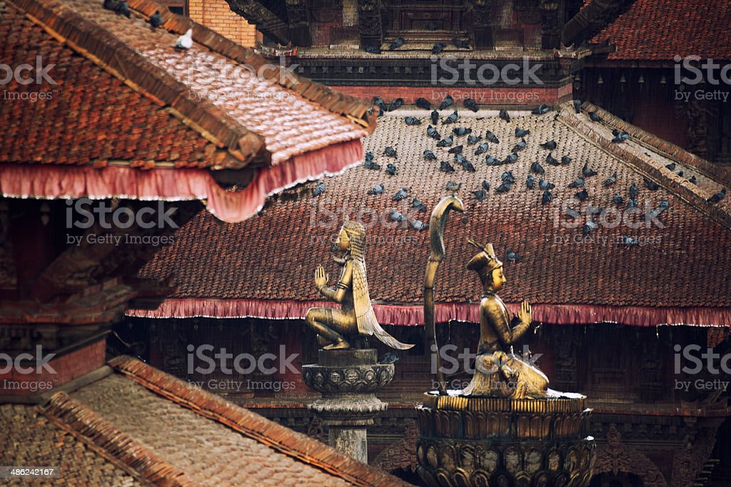 Patan Durbar Square stock photo