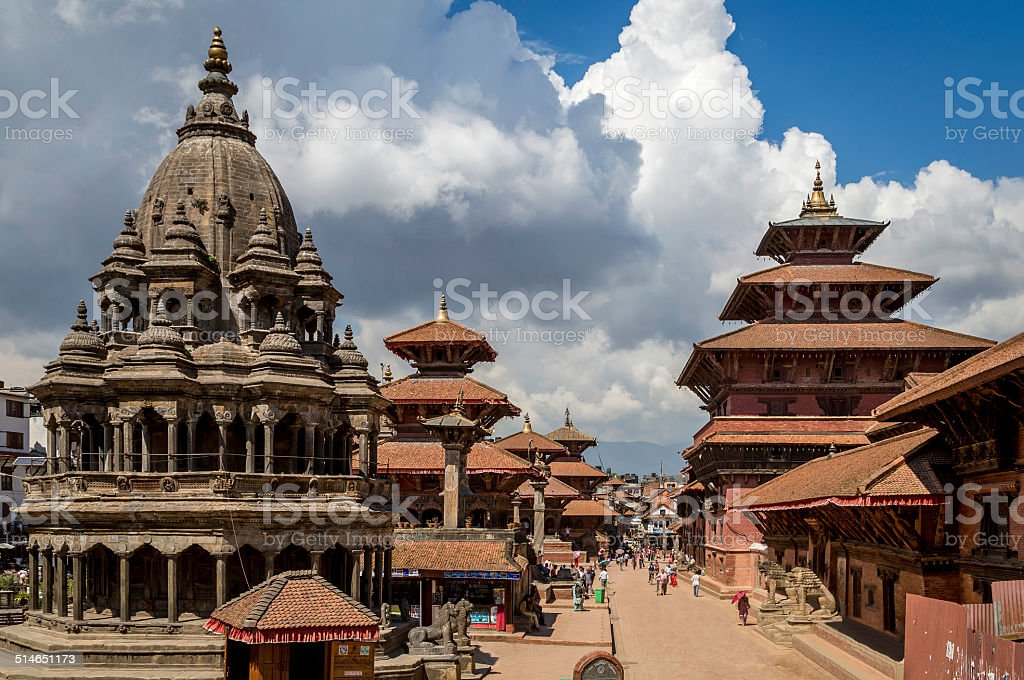 Patan Durbar Square stock photo