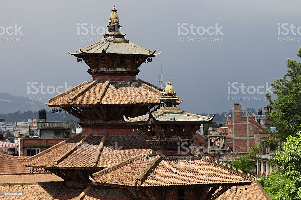 Patan palace at Durbar Square in Kathmandu, Nepal royalty-free stock photo