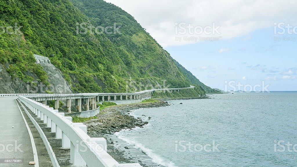 Patapat Viaduct - Pagudpud, Ilocos Norte, Philippines stock photo