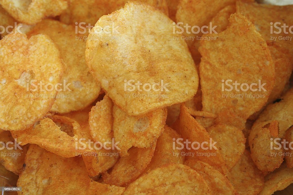 patato chips with paprika royalty-free stock photo