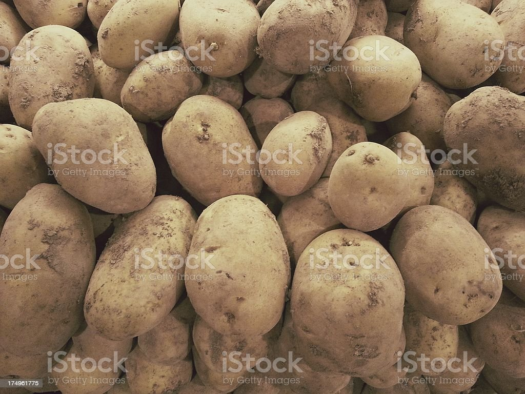Patatoes in market stock photo