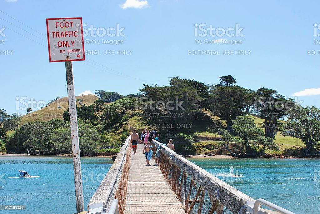 Pataua Footbridge, Whangarei District, Northland, New Zealand stock photo